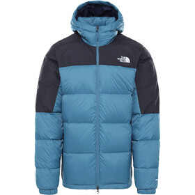 The North Face Diablo Down Hoodie Men mallard blue/TNF black